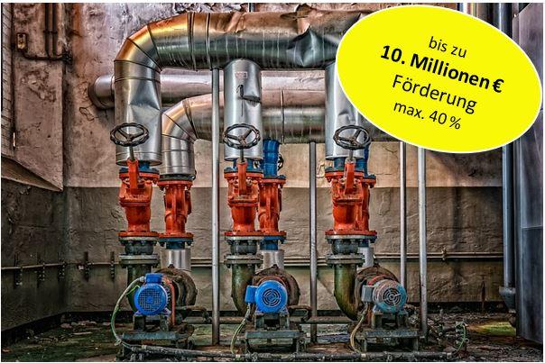 40% Förderung für Abwärmenutzung in Anlagen und Prozessen