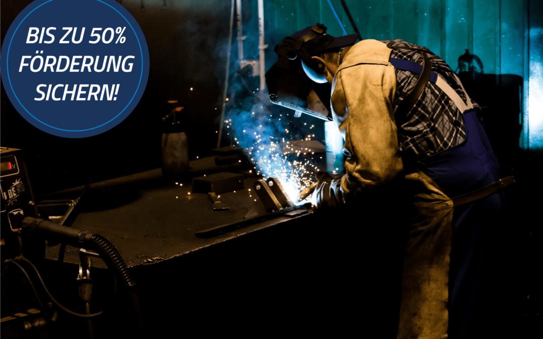 Bis zu 50% Förderung für die Fahrzeughersteller- und Zulieferindustrie